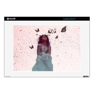 Butterfly Woman Laptop Decal