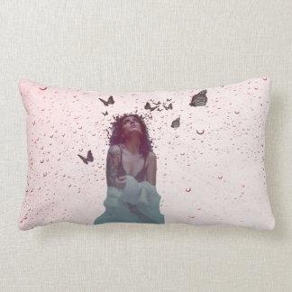 Butterfly Woman Lumbar Pillow