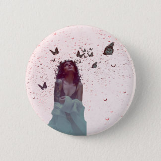 Butterfly Woman Pinback Button