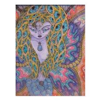 Butterfly Woman Postcard