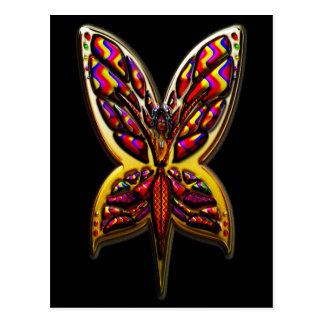 Butterfly Woman three C Postcard