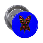 Butterfly Woman three F Pinback Buttons