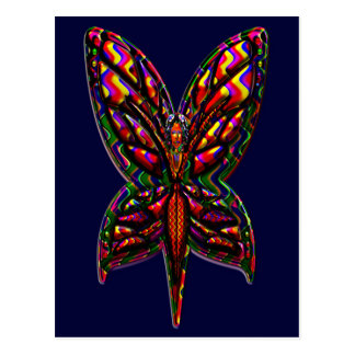Butterfly Woman three F Post Cards