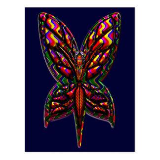 Butterfly Woman three F Postcard