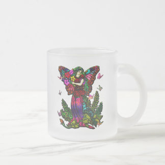 Butterfly Woman with Flowers and Butterflies Coffee Mug