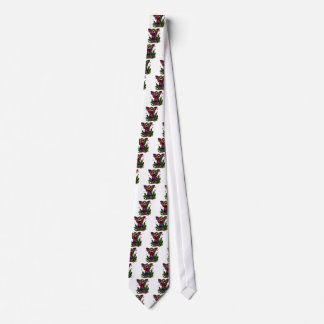 Butterfly Woman with Flowers and Butterflies Neck Tie
