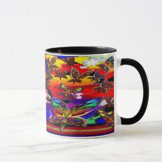 Butterfly Women Flying, Angel Edit Mug