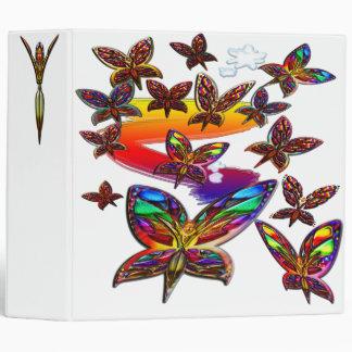 Butterfly Women Flying Large Binder