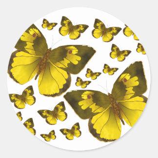 Butterfly Wonder Classic Round Sticker