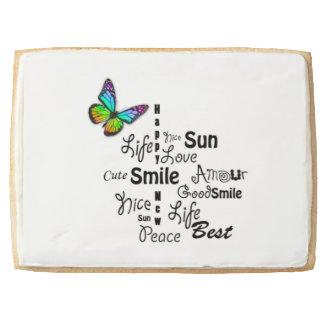 Butterfly Words Jumbo Cookie