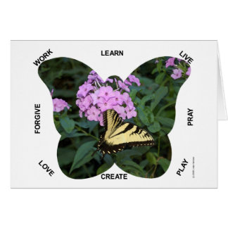 Butterfly Words to Live By Card