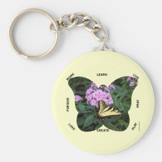 Butterfly Words to Live By Key Chain