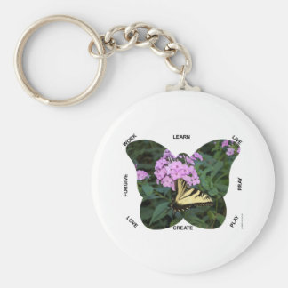 Butterfly Words to Live By Keychains