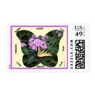 Butterfly Words to Live By Postage