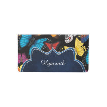 Butterfly World Customized Checkbook Cover
