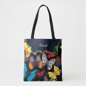 Butterfly World Customized Tote Bag