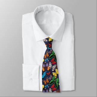Butterfly World Navy Tie
