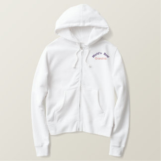 Butterfly World's Best Grandma Embroidered Hoodie