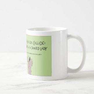 Butterfly worlds collide coffee mug