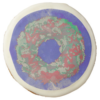 """Butterfly Wreath"" Christmas Sugar Cookies (RGB)"
