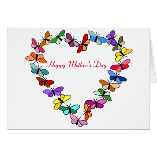 Butterfly wreath, Happy Mother's Day card