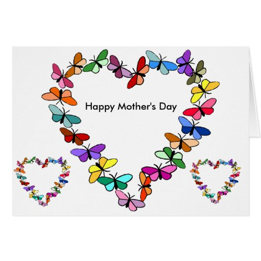 Butterfly wreath Mother's day card