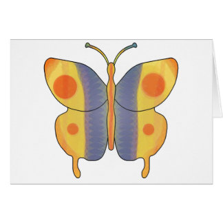Butterfly Yellow Card