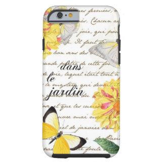 Butterfly Yellow Dahlia Garden Case Tough iPhone 6 Case