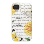 Butterfly Yellow Dahlia Garden Case iPhone 4/4S Cover