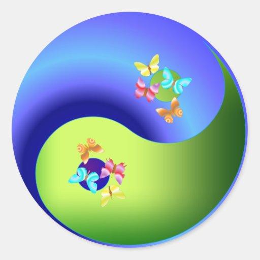 Butterfly Yin Yang Sticker Zazzle