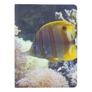 Butterflyfish amarillos y blancos de Copperband Funda Para Libreta Y Libreta Extra Grande Moleskin