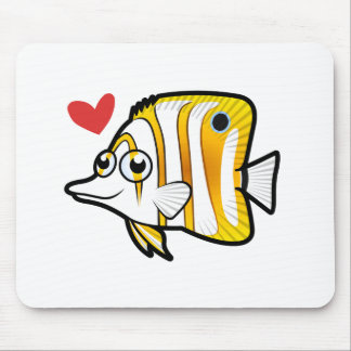 Butterflyfish Love Mouse Pad