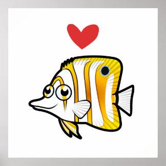 Butterflyfish Love Poster