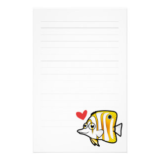 Butterflyfish Love Stationery