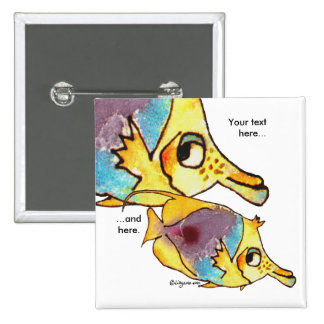 Butterflyfish Two Fish Personalized Pin