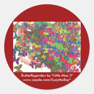 butterflygarden la hoja del pegatina