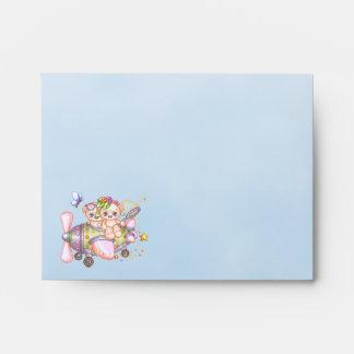 Butterflying Bears Pixel Art Envelope