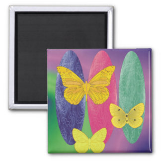 butterflys 2 inch square magnet