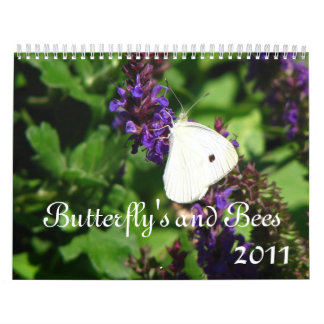 Butterfly's and Bees, 2011 Calendar