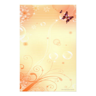 Butterflys and Bubbles Stationary Personalized Stationery