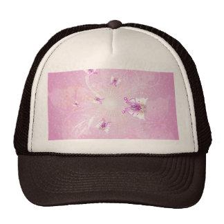 Butterflys impresionantes en fondo púrpura suave gorras de camionero