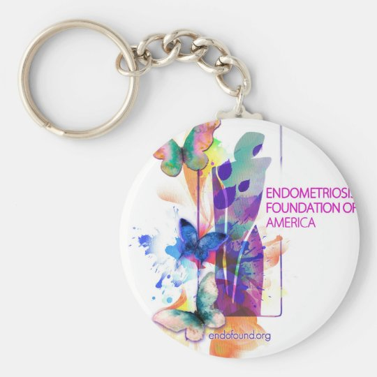 Butterflys Logo Keychain