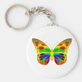 ButterflyWarrior 1 Basic Round Button Keychain