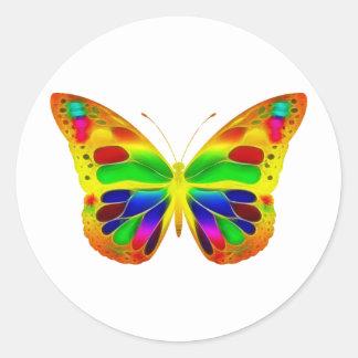 ButterflyWarrior 1 Classic Round Sticker