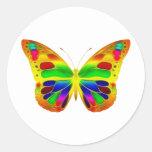 ButterflyWarrior 1 Pegatinas Redondas