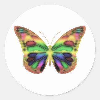 ButterflyWarrior 2 Classic Round Sticker