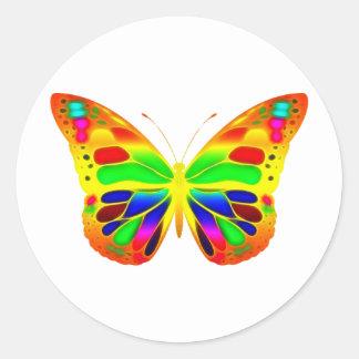 ButterflyWarrior 3 Pegatina Redonda