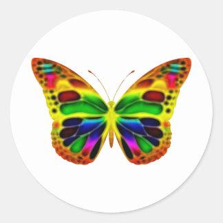 ButterflyWarrior 4 Classic Round Sticker