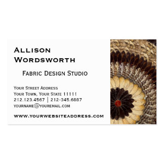 Butterfuly Wings Natural Art Deco Tribal Pattern Business Card