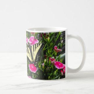 Butterfy Flowers Coffee Mug